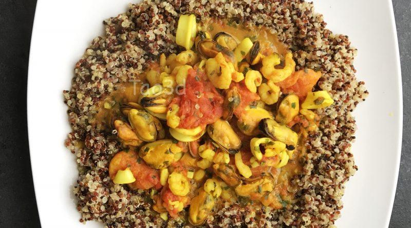 Trio de quinoa aux fruits de mer IG bas